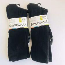 NWT MEN'S SMARTWOOL LOT OF 2 CREW RIB SOCKS SZ XL BlackSWOSW164 CUSHION $18.99Ea