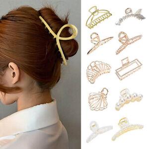 Women Metal Hair Claw Clip Barrette Crab Clamp Hairband Hair Accessories 8 Style