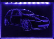 LED faunz Auto Leuchtschild, Gravur für Opel Corsa B, GSI, 16V  NEU ©