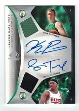 SEBASTIAN TELFAIR Kevin Pittsnogle 2006-07 UD Sp Game Used DUAL JERSEY AUTO #/50