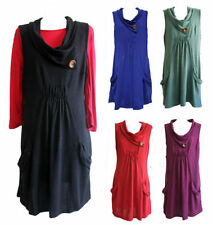 Hand-wash Only Solid Plus Size Sleeveless Tops for Women