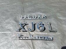 Jaguar XJ6L XJ6 L TRUNK EMBLEM INSIGNIA SIGN CHROME METAL SERIES 1 2 FUEL INJECT
