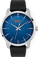 Hugo Boss Orange Stockholm Blue Dial Leather Strap Men's Watch 1550072