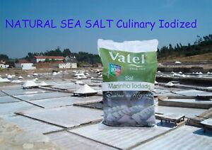 1kg 35.2 oz Unrefined NATURAL SEA SALT Culinary Iodized coarse