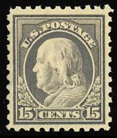 437 MINT XF OG NH - 15¢ Franklin - Beautifully Centered GEM - Stuart Katz