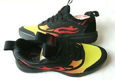Vans Mens UltraRange Rapidweld Flames Black Orange Skate Trail shoes Size 11.5