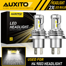 2X AUXITO H4 9003 LED Headlight Bulbs Kit High Low Beam White 6500K 24000LM M3 A