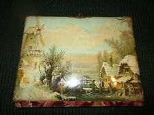 Antique Vintage Victorian Celluloid  Photo Album - Dutch Pastoral Scene - Beau