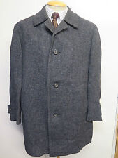 "Genuine Harris Tweed Grey Coat Size L 42-44""  Regular Euro 52 - 54"