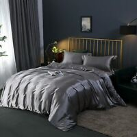 Luxury Bedding Sets Duvet Cover Solid Color Bed Sheet Home Textiles King Size