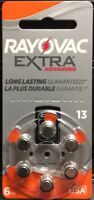 60 Rayovac Extra Advanced Hearing Aid Batteries Size 13 (Orange). Expire 11/2021