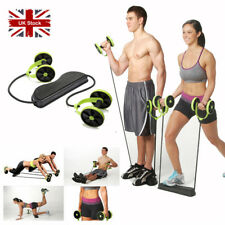 ABS ABDOMINAL ROLLER EXERCISE WHEEL GYM FITNESS STRENGTH TRAINING BODY MACHINE