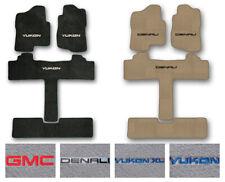 3-Row Carpet Floor Mat Set for 2000-2019 GMC Yukon/Denali - 2nd Row Captain