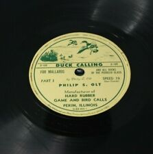 Duck Calling Instruction Record Johnny Stewart and Olt Vintage Vinyl  Mallards