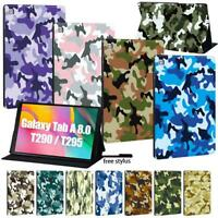 camouflage PU LEATHER COVER CASE For Samsung Galaxy Tab A 8.0 (2019) T290 T295