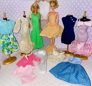 Vintage Barbie Dolls With Clothes Lot