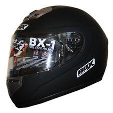 BOX BX-1 Full Face Motorbike Motorcycle Helmet Plain Solid MATT BLACK XL
