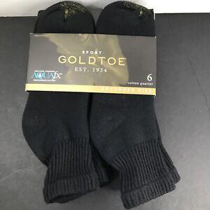Gold Toe Men's Cotton Quarter Athletic Socks 6 Pairs Shoe Size: 12-16