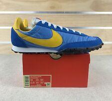 Nike Waffle Racer Men's 10 Retro Running Shoes Blue Amarillo Gold CN5449-400