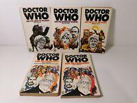 VINTAGE Doctor Who Paperback Book Bundle x 5