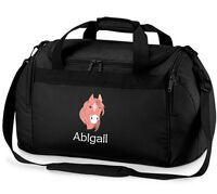 Personalised HORSE Sports Holdall Bag Travel Named Equestrian Pony Horse Riding