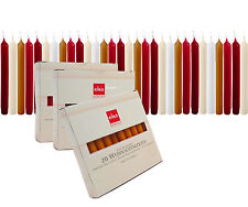 Eika Finest Tree Candles Solid Colored and Beeswax Made in Germany - Box of 20