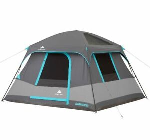 10' X 9' Dark Rest Cabin Tent Sleeps 6 Portable Instant Shelter Outdoor Camp NEW