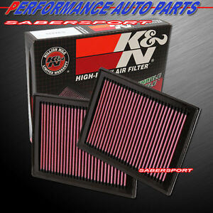 Two K&N 33-2409 Hi-Flow Air Intake Drop in Filters for Infiniti Q50 Q60 3.0T