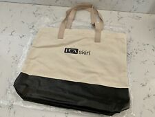 PCA Skin Care Canvas Tote Bag Reinforced Bottom Leather Handles