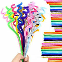 100pcs/pack Kid Educational Toy Chenille Craft Stem Pipe Cleaners Colorful Fiber