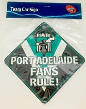 AFL Car Sign with suction cap - Port Adelaide - Brand New AFL Merchandise