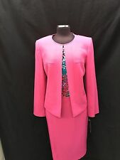 TAHARI BY ARTHUR LEVINE SKIRT SUIT/SIZE 16//RETAIL$280//LINED/TANK NOT INCLUDED