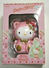 2004 Sanrio Hello Kitty Blown Glass Christmas Holiday Ornament. Pink. 019110
