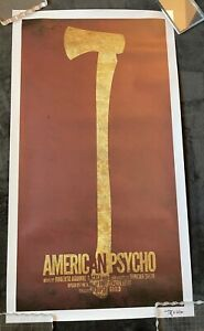 American Psycho The Musical Broadway Poster Print - Signed Tony Yates - Horror