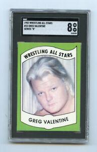 Greg Valentine 1982 Wrestling All Stars #33 Series B SGC 8 AG464