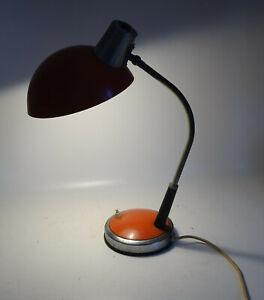 Vintage Schreibtischlampe Orange Tischlampe Nord Light Deko !