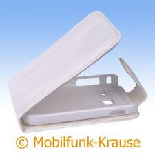 FLIP Case Astuccio Custodia Cellulare Borsa Astuccio Per Samsung gt-s6102/s6102 (Bianco)