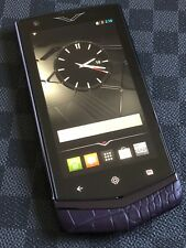Genuine Vertu Constellation V Android Luxury Phone Pure Plum Alligator Brand NEW