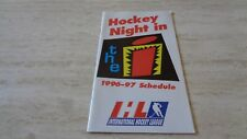 1996-97 International Hockey League ( IHL ) League Schedule