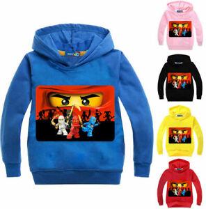 Ninjago Girls Boys Kids Hooded Tops T-shirt Thin Hoodie Jumper Cartoon Clothes