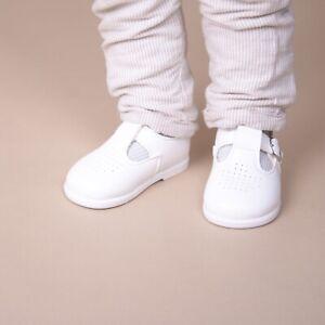 Baypods Boys/Girls first walker T-bar toddler shoes in White/BabyBlue/Navy/Black