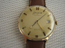 Vintage Automatic Wristwatch GUB Glashütte Spezimatic Gold Plated 26 Jewels GDR