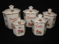 Ancienne série de pots à épices en céramique art deco - Faience porcelaine