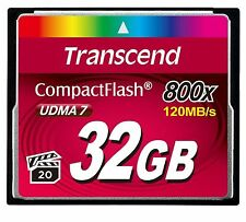 Transcend CF 32GB Compact Flash 800X 120MB/s Read 40MB/s Write Compact Flash ct