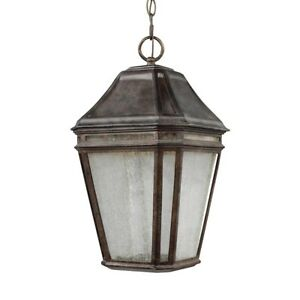 Feiss Londontowne LED Outdoor Pendant, Weathered Chestnut- OL11311WCT-LED