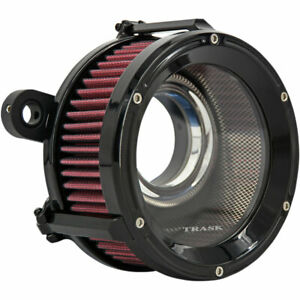 Trask Black Assault Charge High-Flow Air Cleaner 2008-16 Harley Touring/Softails
