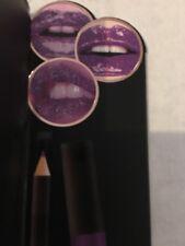 Paris Hilton Lip Trio Live, Love, Sparkle/Violet Gloss, Liner & Glitter Pot New