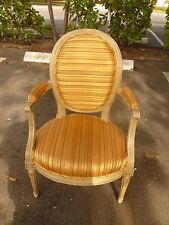 Diminutive Early 19Th C Painted Louis 16Th Arm Chair At A Very Reasonable Price