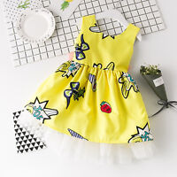 Toddler Kids Baby Girls Princess Party Sleeveless Dress Tutu Sundress Dresses