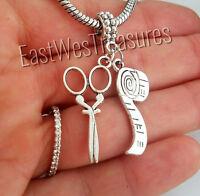 Measuring tape needle thread Charm pendant for bracelet necklace-European